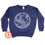Soft tri blend raglan with full moon image