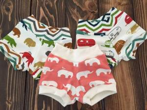 Organic Cotton Bear, Elephant or Camper Shorts